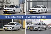 朗逸/速腾等2017年Q3季度11-15万欧系车型销量汇总