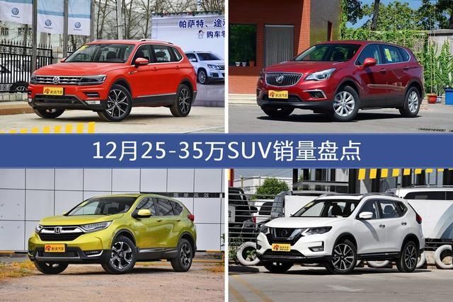 途观/昂科威等12月25-35万SUV车型销量汇总-图片1