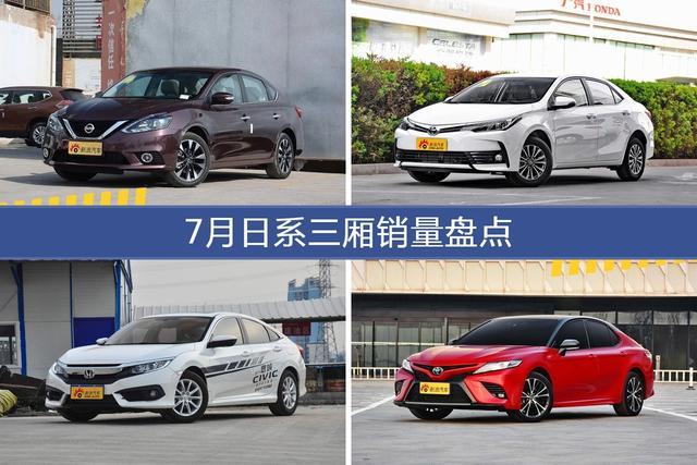 轩逸/卡罗拉等7月日系三厢车型销量汇总-图片1