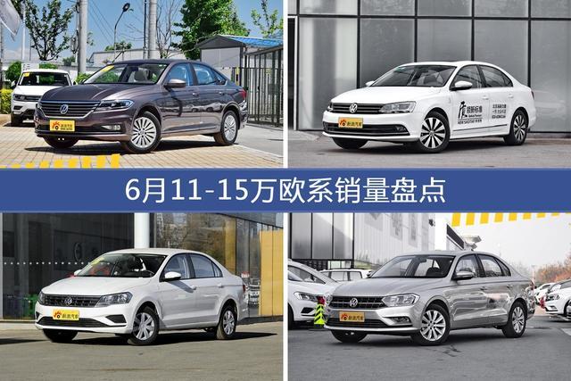 6月11-15万欧系车型销量数据揭晓,用户愿意为哪些车买单?-图片1