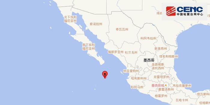 墨西哥雷维亚希赫多群岛地区发生5.7级地震