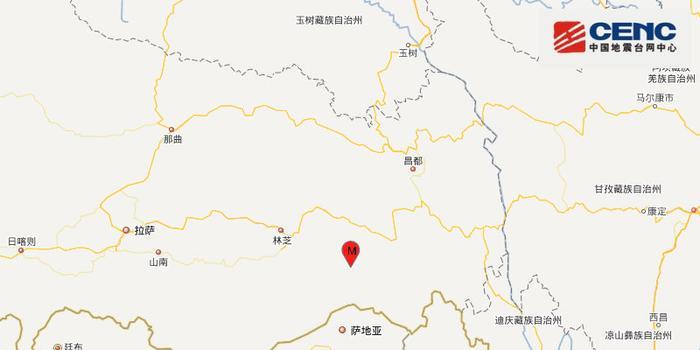 西藏林芝市墨脱县发生3.1级地震 震源深度6千米