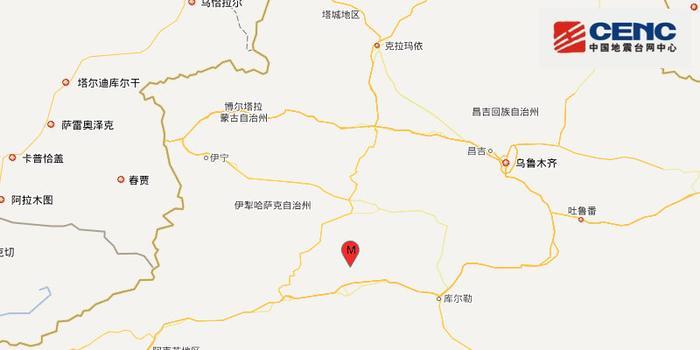 新疆轮台县发生3.9级地震 震源深度20千米
