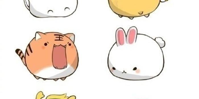 萌萌的十二生肖小动物图片