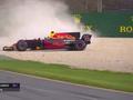 视频-F1澳大利亚站排位赛里卡多撞车
