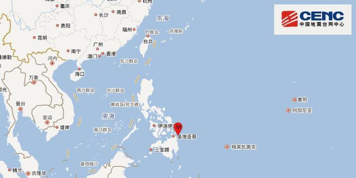 菲律宾棉兰老岛附近发生5.9级地震 震源深度10km