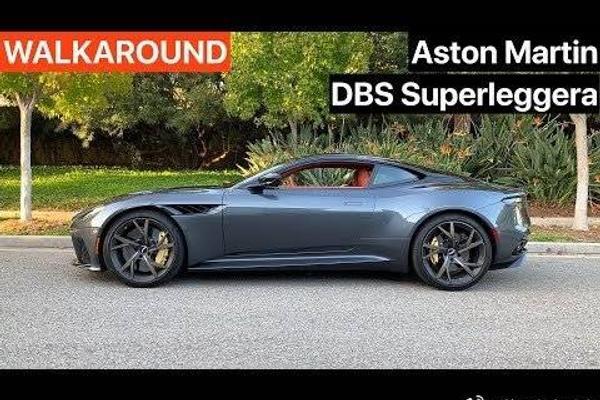 阿斯顿马丁DBS Superleggera步行+声音