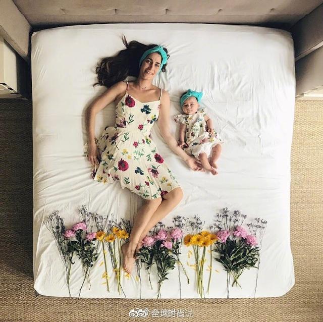 创意亲子床照