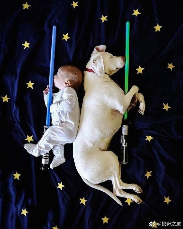 摄影师Elizabeth Spence记录下午睡的宝宝和汪星人的温情瞬间。