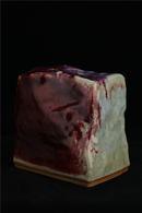 基石(玫瑰紅釉藍斑)