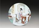 圓形瓷板《十二金釵-惜春》