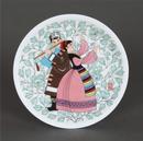 瓷盤《獻哈達》