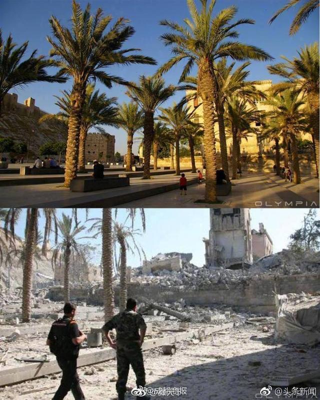 叙利亚战争前后对比。愿世界和平,再无战争!via微天下