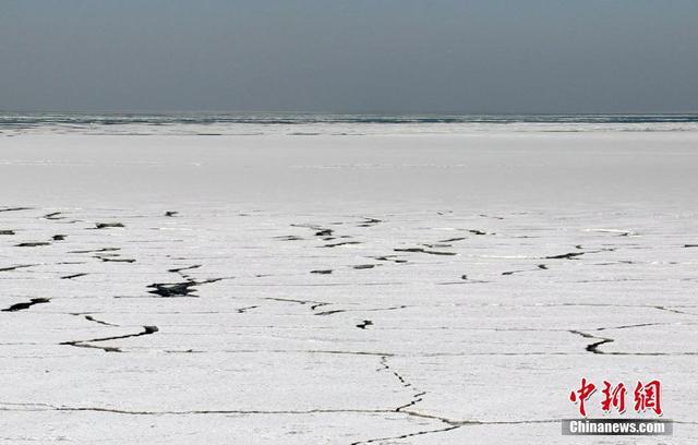 1月12日,山东莱州边防民警在莱州湾海庙港、刁龙嘴码头等多处海域巡逻观测海冰发展态势。近几天,随着气温持续走低,浮冰将该区域海面连成一片。每年冬季,莱州湾海域大多有海冰现象,冰情严重时会对海上生产带来影响。方毅 摄