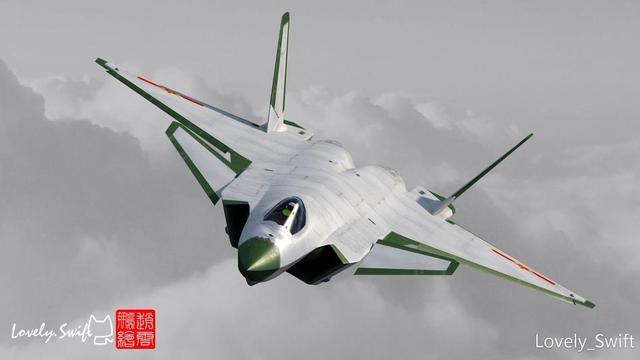 """在新中国战机涂装的演化历程上,让人记忆深刻的是歼-8II战斗机首次采用了绿色雷达罩、白色机身的新款涂装,后来服役的歼轰七基本型也是采用了这一经典涂装。在较长的一段时间内,""""绿头白身""""的造型成了中国空中力量的缩影。后来,随着时代的变迁,""""绿头白身""""终成历史。近期,有民间CG牛人创作的一些中国空军新型战机的""""绿头白身""""涂装,以此怀旧。图为""""绿头白身""""版歼20,机身周边也刷上绿色边条,另有一番味道。"""