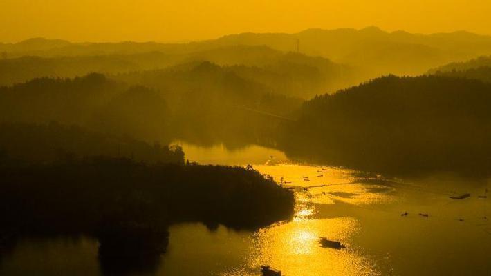 江西仙女湖捕12.5万斤有机鱼