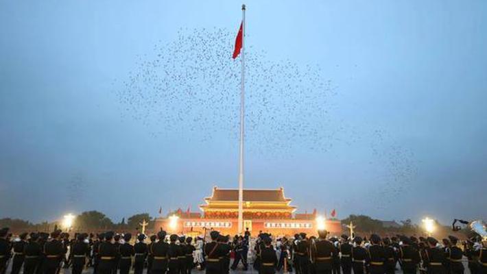国庆节天安门升旗仪式回顾