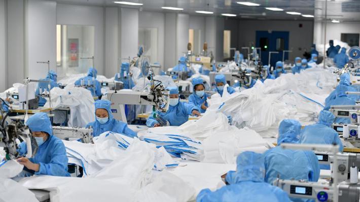 探访石家庄防护服生产企业