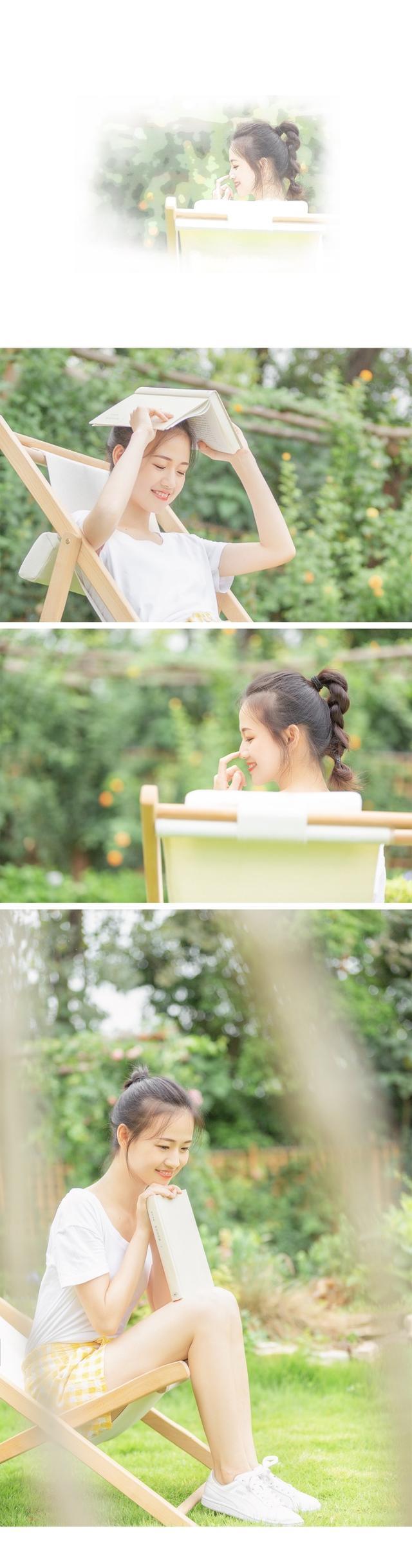 四川师范大学学生@小松鼠酱酱 在微博上晒出了一组写真,花辫马尾,纯白T恤,清新自然。(图 cr.@小松鼠酱酱 的新浪微博)