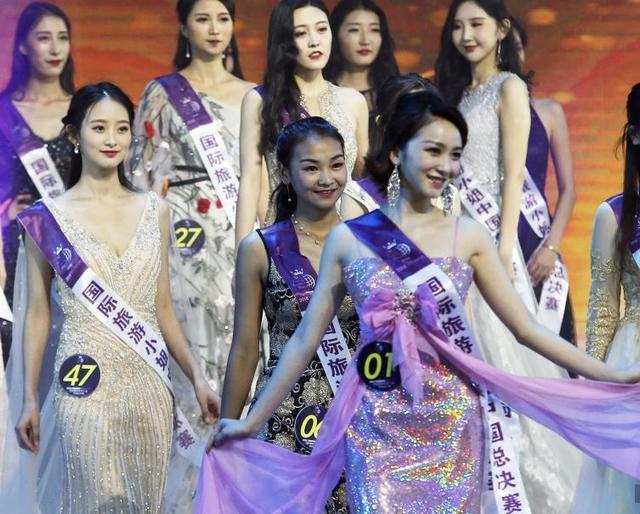2018国际旅游小姐大赛中国总决赛在江苏无锡举行,来自辽宁、上海、江苏、福建、浙江、山东等地的53位佳丽参加大赛角逐。