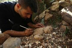Palestinian artist makes sculptures in West Bank city of Nablus