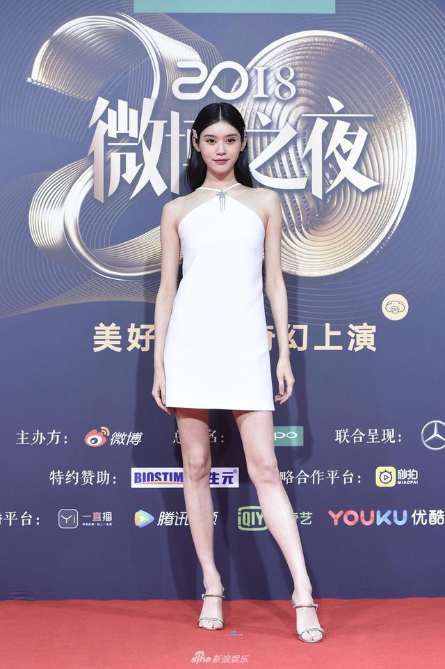 新浪娱乐讯 1月11日晚,2018新浪微博之夜在北京举行,群星闪耀亮相。新浪娱乐进行全程微博、视频、图文直播。图为奚梦瑶现身红毯。宫德辉、王远宏/图