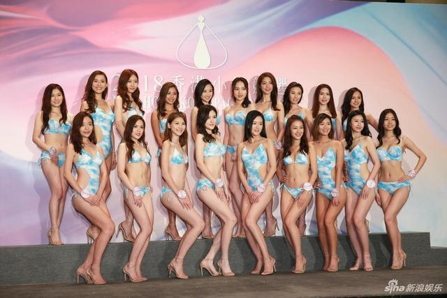 新浪娱乐讯 日前,2018香港小姐竞选19位候选佳丽以泳装会晤传媒,其中2号庄嘉慧因身体不适再次缺席活动。TUNGSTAR/文并图