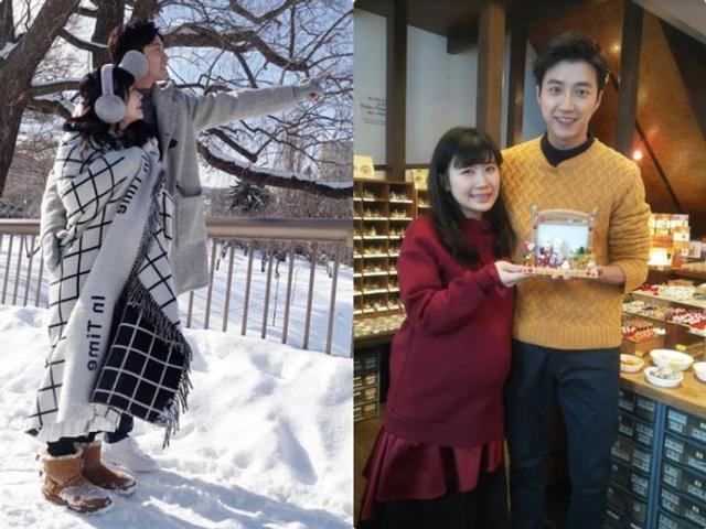 新浪娱乐讯 近日,福原爱夫妇一起回到日本北海道赏雪,福原爱挺孕肚包裹严实,江宏杰甜搂娇妻老公力爆棚。