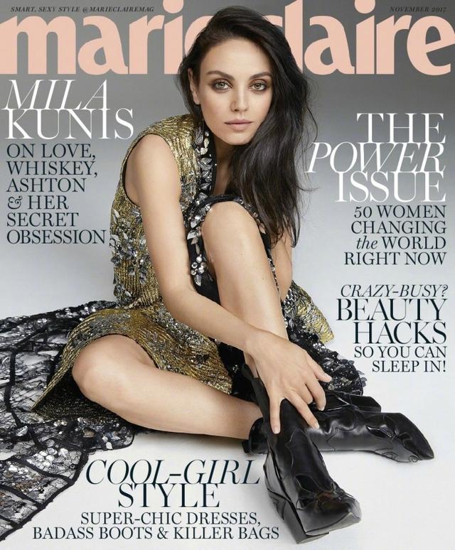 新浪娱乐讯 近日,女星米娜·古妮丝 (Mila Kunis)美国版《Marie Claire》十一月刊,高冷性感随时切换,炫酷迷人。