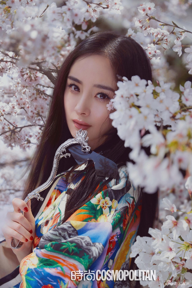 新浪娱乐讯 4月16日,杨幂一组杂志封面大片曝光,她徜徉在日本京都,樱花树下拍大片唯美浪漫。