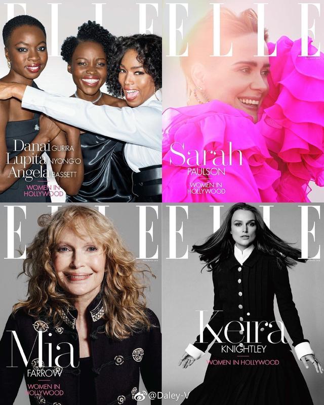 """新浪娱乐讯 10月11日,美版《ELLE》11月特刊封面曝光,和以往不同的是,这次以""""好莱坞女星""""(The Women In Hollywood)为题,聚焦10位霸气十足的明星,她们堪称好莱坞女星的杰出代表和中坚力量,为当代女性代言。"""