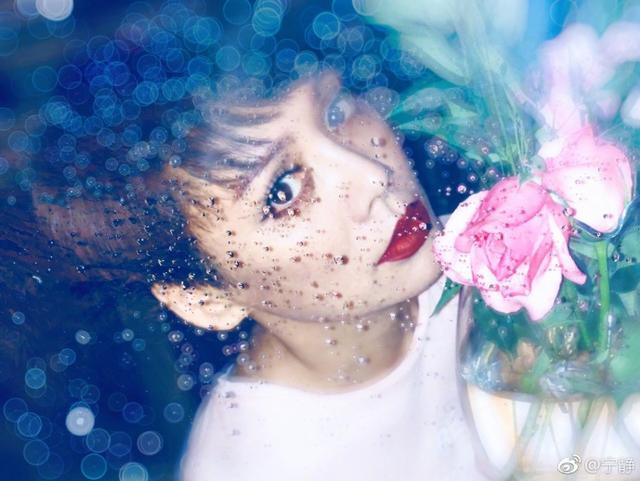 """新浪娱乐讯 6月13日,宁静在自己微博发文称:""""没有滤镜,没有美颜,没有瘦脸大眼!呵呵,美得你!""""并配上一组美照,照片中的她一头短发,妆容精致,眼神魅惑,烈焰红唇轻吻花朵,看起来性感优雅。"""