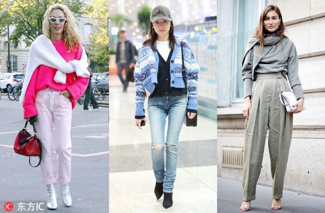 最近发现时髦精们都一下子穿两件毛衣,如时尚买手 Elina Halimi那样一件穿身上一件披在身上打个件。Old Celine的今年秋冬系列中推出了几款不同厚底的假两件毛衣,INS上看到很多博主都在穿。董洁毛衣开衫里再加了件质地稍薄的针织衫,多层次的叠穿好好看!现在天气这么冷,两件毛衣一起穿保暖又时髦!