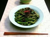 素食养生:梅干菜干煸刀豆