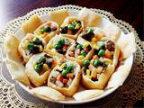 素食养生:油豆腐盅