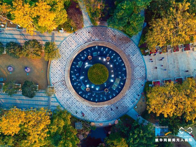 花城处处是美景。广州市黄埔区市民公园位于黄埔区中心,公园占地面积10.3公顷,总体布局既富有地方特色,又具有现代气息。新华网发(曾铠钢摄)