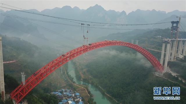 9月12日使用无人机拍摄的大小井特大桥。
