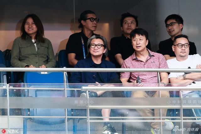 2018年9月28日,湖北武汉,电影《李娜传》团队取景武网,陈可辛导演现场观战采集灵感。