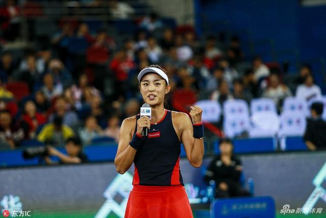 2018年9月26日,湖北武汉,2018武汉网球公开赛女单第3轮,王蔷2-0加夫里洛娃,成为武网历史上首位进入单打8强名单的中国选手。