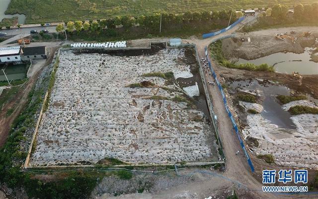 """泰兴市滨江镇头圩村紧靠长江岸边的污泥堆积池。近日,中央环保督察对江苏泰州市泰兴市进行""""回头看"""",发现两年前交办处置的一处化工废料填埋点的大量化工废料,丝毫未动就宣布完成整改;另一处污泥堆放点不减反增,从2万多吨增至约4万吨。生态环境部对此严厉通报批评。如此严重的环保问题,地方政府为何视而不见,有的问题甚至在督察后变本加厉?""""新华视点""""记者进行了调查。新华社记者季春鹏摄"""