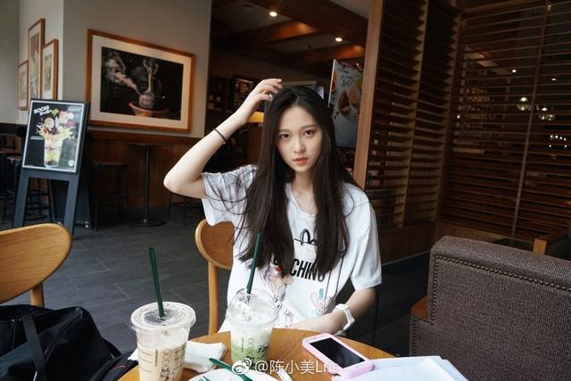 99年出生,现在就读于中国美术学院,身高168cm,来自台湾。(微博ID:@陈小美Lris)