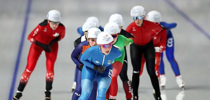 冬奥速滑集体出发 中国错失奖牌