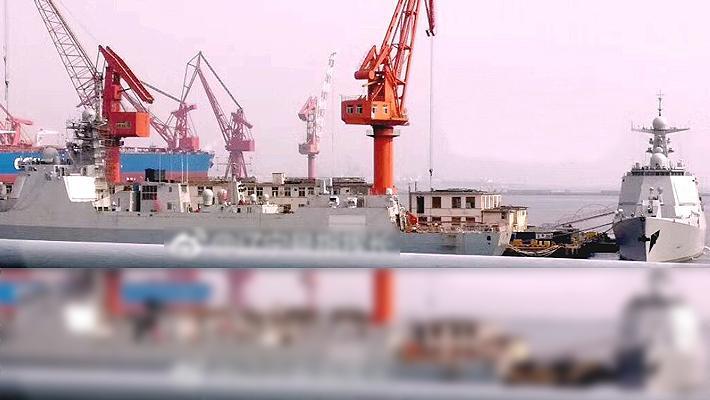 过气网红仍在下饺子!某船厂曝2艘052D舰