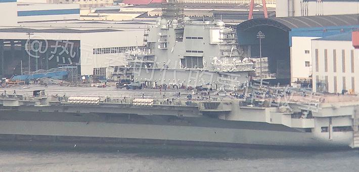 还能赶上阅兵么?国产航母大规模整修