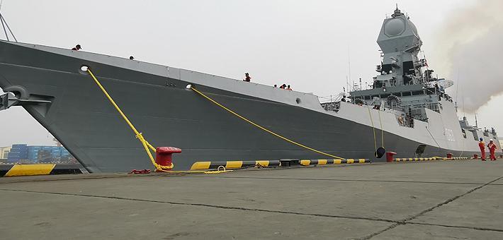 战力=052C舰?印最强神盾舰抵青岛受阅