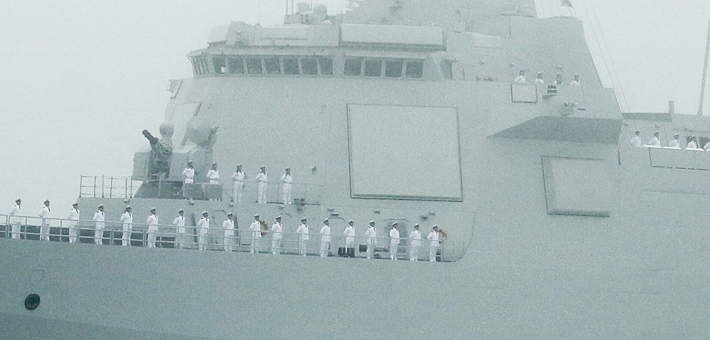 黄海最靓的仔!055大驱阅兵高清照来袭