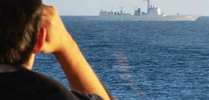 中国神盾舰穿越英吉利海峡 英舰尾随