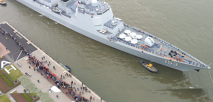 羡煞欧洲列强!中国神盾舰停靠荷兰