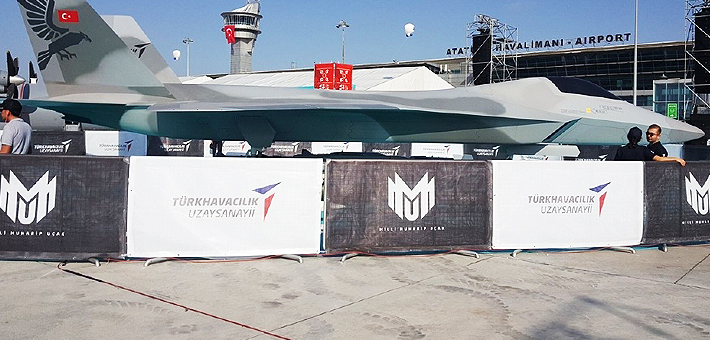F22亲兄弟?土耳其高调展出国产五代机