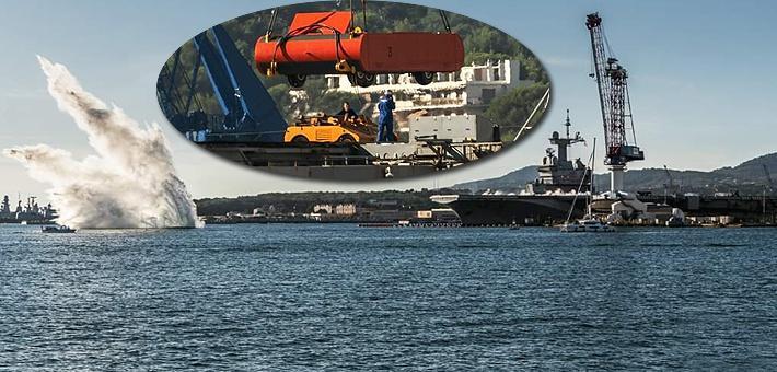 中国航母加油!法军戴高乐号测试弹射器